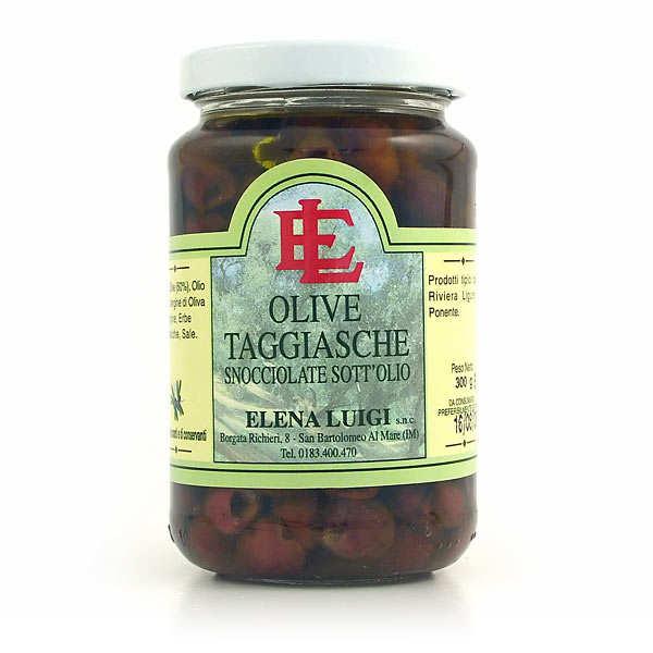 Olives taggiasche dénoyautées à l'huile d'olive