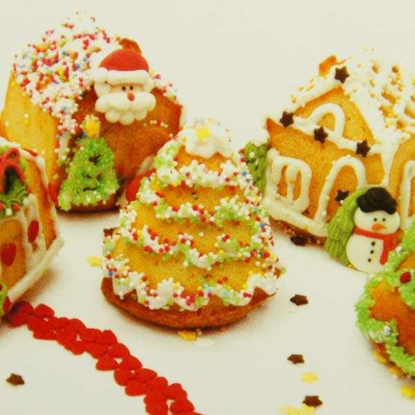 Moule à gâteaux silicone Village enchanté
