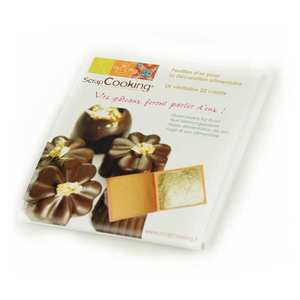 ScrapCooking ® - Feuille d'or alimentaire - Or véritable 22 carats
