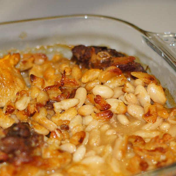 Cassoulet gastronomique de Castelnaudary et cuisses de canard