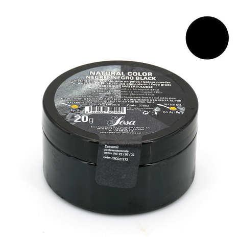 Sosa ingredients - Colorant en poudre noir brillant  - poudre de charbon