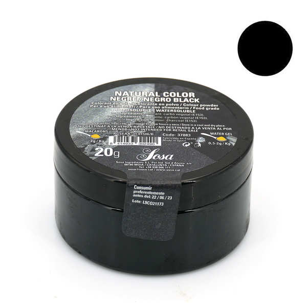 colorant en poudre noir brillant poudre de charbon - Colorant Poudre Alimentaire