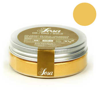 Sosa ingredients - Gold colouring powder - non-azoic and water-soluble