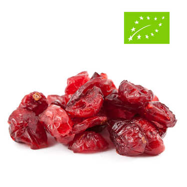 Organic dried cranberries bag