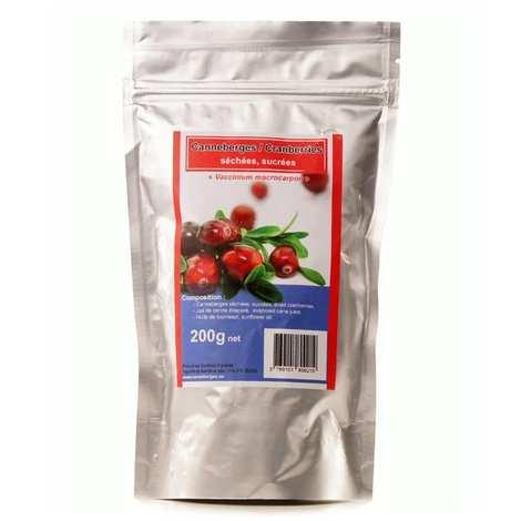 Jus Bio & Cie - Baies de cranberry / canneberge séchées et sucrées