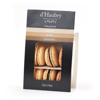 D'Haubry - 6 Vanilla, Mocha and Chocolate Macaroons