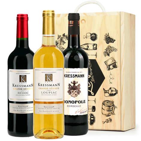 BienManger paniers garnis - Box of 3 Bordeaux bottles (Loupiac, St Emilion, Bordeaux)