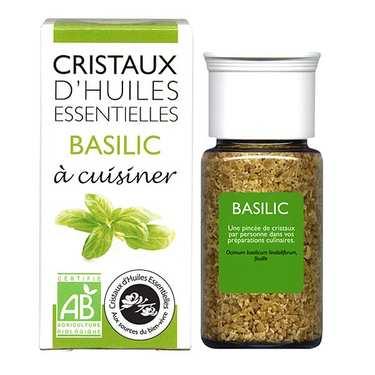 Basilic - Cristaux d'huiles essentielles à cuisiner - Bio