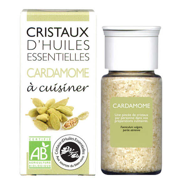 Organic essential oil crystals - Cardamom