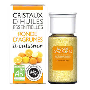 Aromandise - Agrumes - Cristaux d'huiles essentielles à cuisiner - Bio