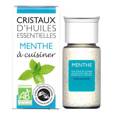 Aromandise - Menthe - Cristaux d'huiles essentielles à cuisiner - Bio