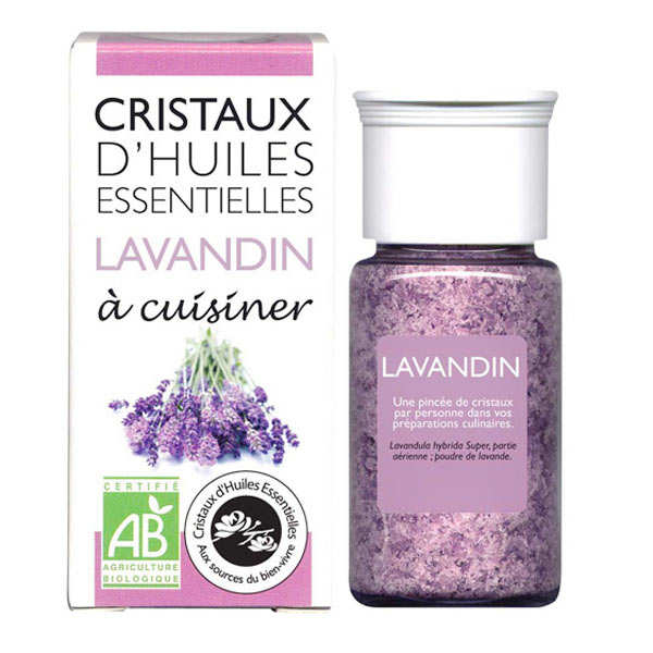 Organic essential oil crystals - Lavender