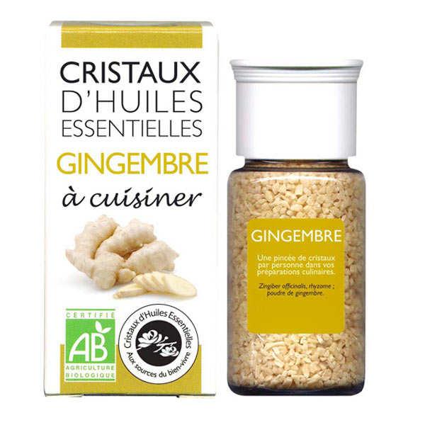 Gingembre - Cristaux d'huiles essentielles à cuisiner - Bio