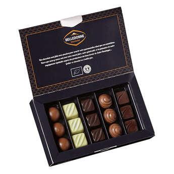 Belledonne Chocolatier - Organic Assortment of 3 Chocolate Pralines