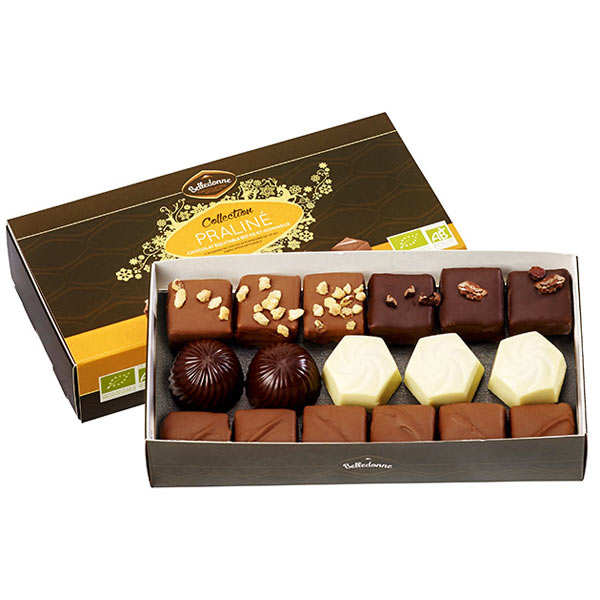 Organic Assortment of 3 Chocolate Pralines