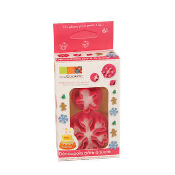 ScrapCooking ® - Plunger icing cutter - Christmas tree, snowflake & gingerbread man