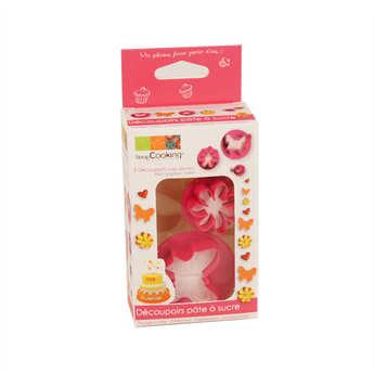 ScrapCooking ® - Découpoirs pâte à sucre - Papillon, fleur et coeur
