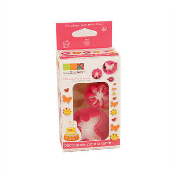 ScrapCooking ® - Plunger cutter - Butterfly, heart and flower