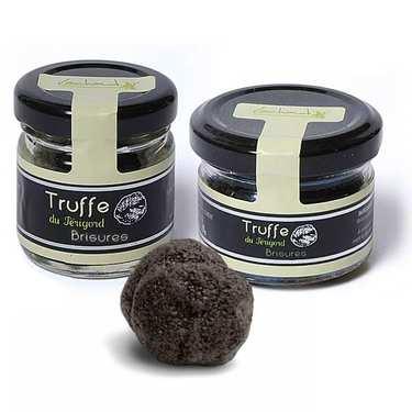 Brisures de truffes noires - pelures (tuber melanosporum)