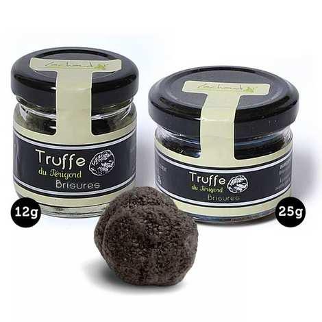 Lachaud - Brisures de truffes noires - pelures (tuber melanosporum)