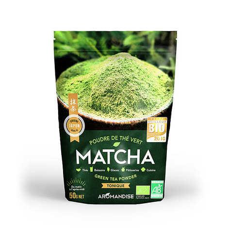 Aromandise - Poudre de thé vert matcha bio