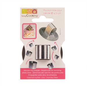 ScrapCooking ® - Poussoir inox pour cercle de 6.3 cm de diamètre