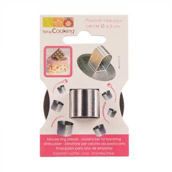 ScrapCooking ® - Stainless steel circular cutter - 6.3cm diameter