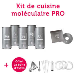 Saveurs MOLÉCULE-R - Kit de cuisine moléculaire Chefs Initiation pour les pros