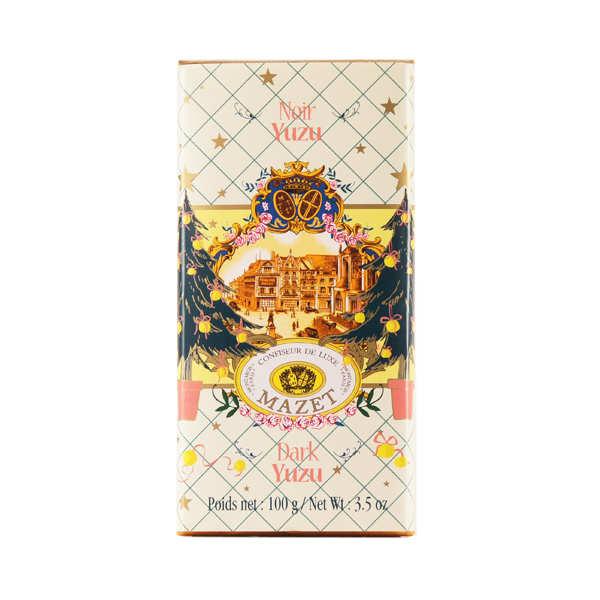 Tablette de chocolat noir au Yuzu