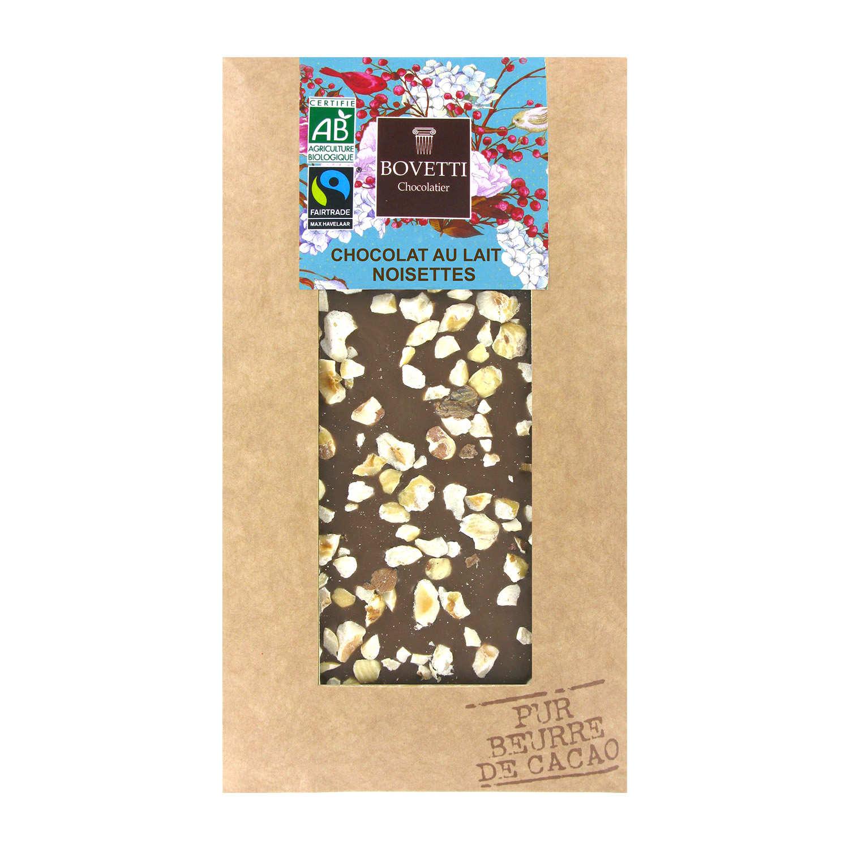 Tablette chocolat au lait et noisette - Bio