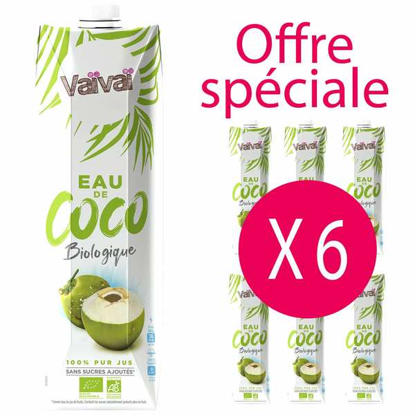 Vaïvaï coconut water - 6 x 1l bottles