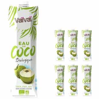 VaiVai - Vaïvaï – L'eau de coco 100% naturelle - 1 litre - Le lot de 6