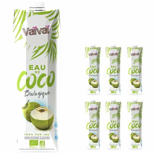 Vaïvaï – L'eau de coco 100% naturelle - 1 litre - Le lot de 6