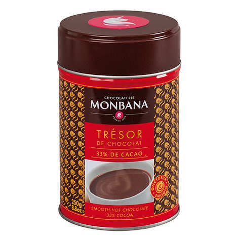 """Monbana Chocolatier - Chocolat en poudre onctueux """"Trésor de Chocolat"""""""