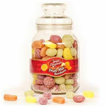 - Bonbonnière de bonbons à l'ancienne aux fruits