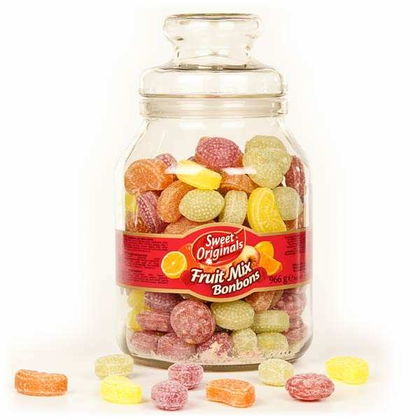 Bonbonnière de bonbons à l'ancienne aux fruits