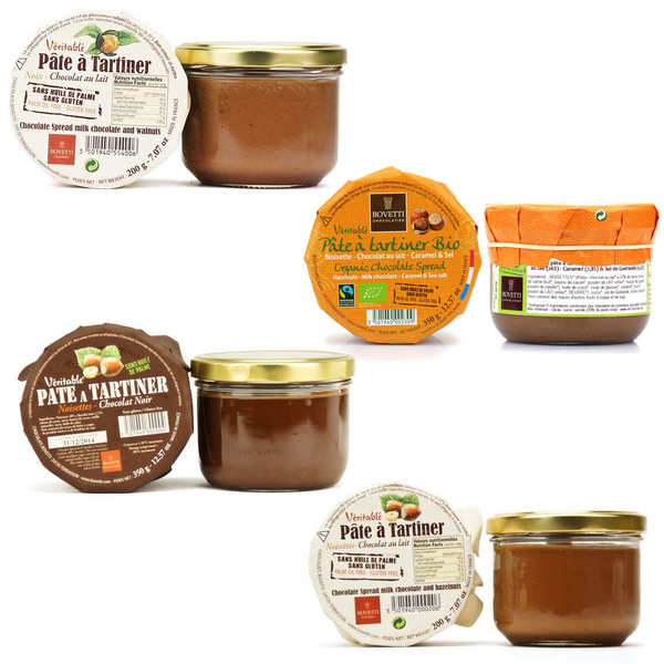 3 traditional chocolate spreads + 1 free