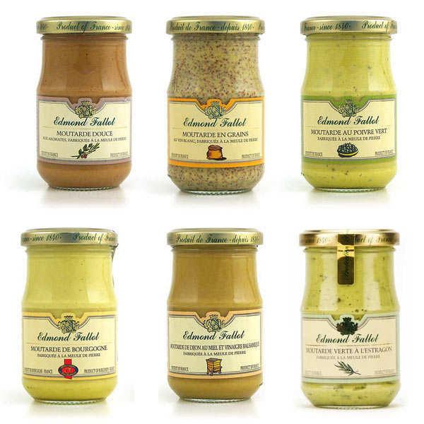 Lot de 5 moutardes Fallot + 1 offerte