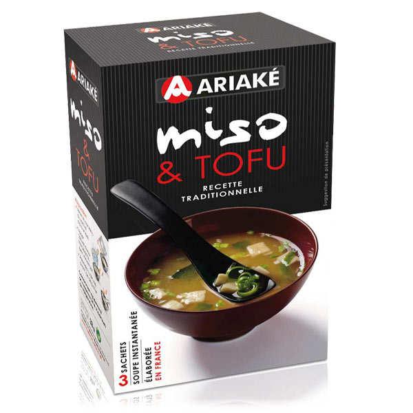 Soupe miso et tofu instantanée en sachets