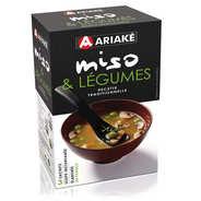 Ariaké Japan - Soupe miso et légumes instantanée en sachets