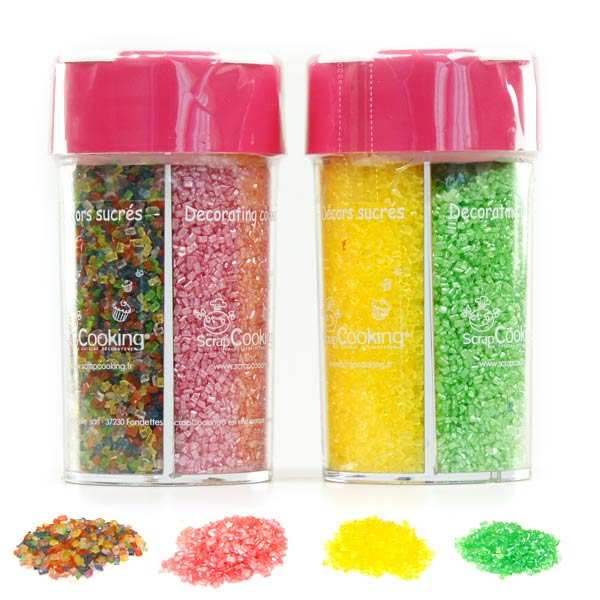 Glitter decorating sugar dispenser 188g scrapcooking for Chambre de sucre gourmet artisanal sugars