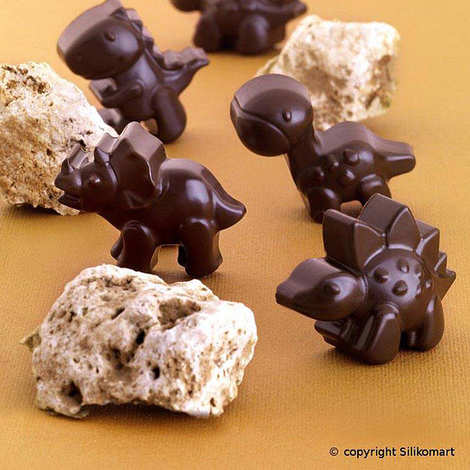 Silikomart - Moule silicone pour chocolat - Dinosaures