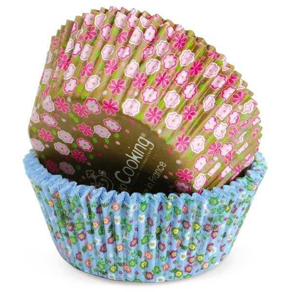 Caissettes pour cupcakes motif fleurs Liberty