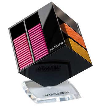 Monbana Chocolatier - Le cube à chocolats - 90 carrés de chocolat