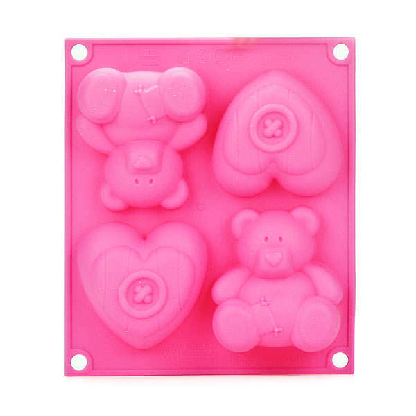 Bear and heart mould - babyline