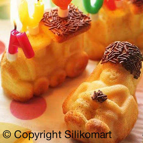 Silikomart - Moule à gâteau en silicone tracteur et soldat de plomb
