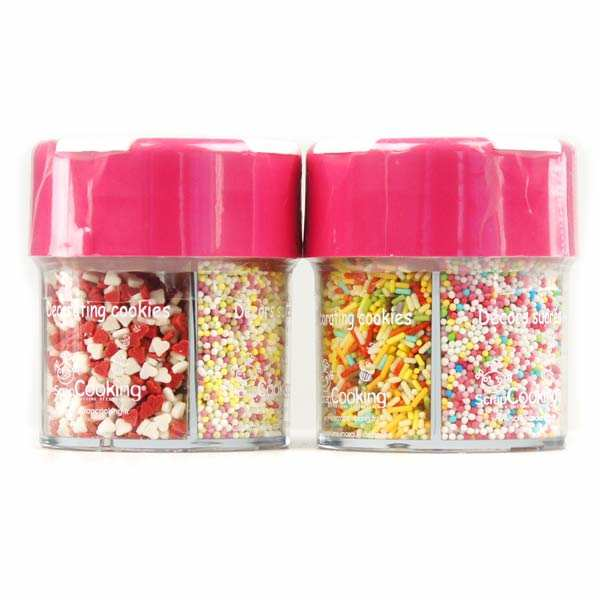Glitter decorating sugar dispenser (4 types)