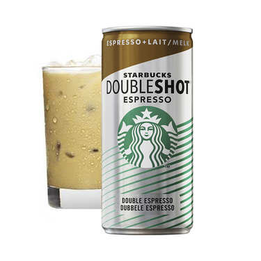 Starbucks café frappé Double shot espresso and Cream