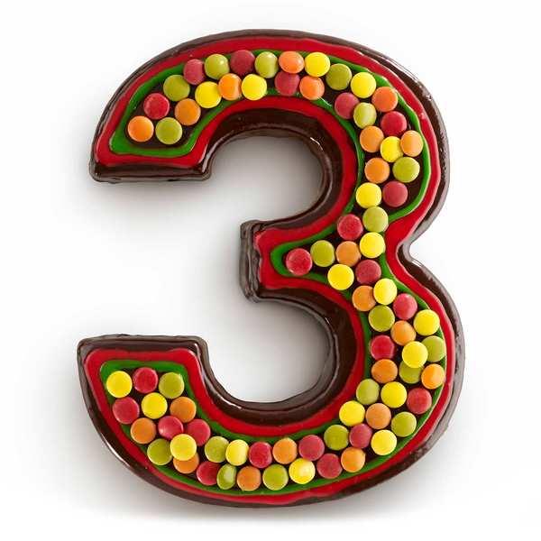 Number cake mould - n°3
