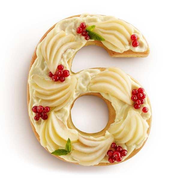 Number cake mould - n°6